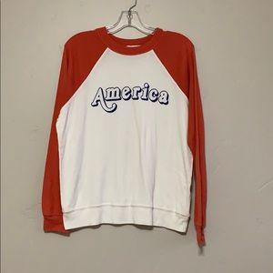 Wildfox America Raglan Sleeve Sweatshirt Jumper M